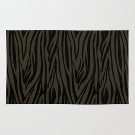 Sophisticated Black and Grey Zebra Print Pattern Rug