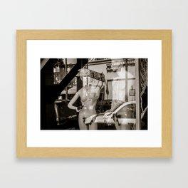 Adam & Eve on Hollywood Blvd. Framed Art Print