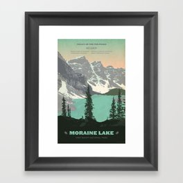 Moraine Lake Poster Framed Art Print