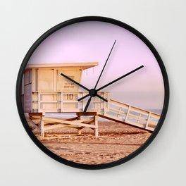 BEACH SCENES, LOS ANGELES Wall Clock