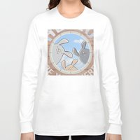 bunnies Long Sleeve T-shirts featuring Sweet bunnies by Artemio Studio