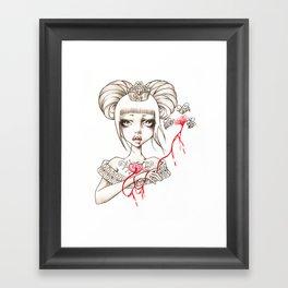 Honey Blood Framed Art Print