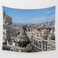 madrid Wall Tapestries featuring Madrid Espana by Eduardo Doreni