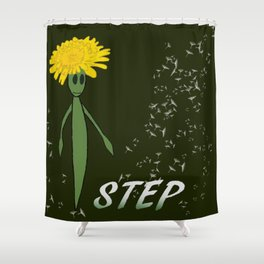 Dandeliono Character poster (STEP) Shower Curtain