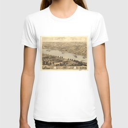 Vintage Pictorial Map of Jefferson City MO (1869) T-shirt