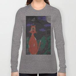 Scaredd Cat Long Sleeve T-shirt