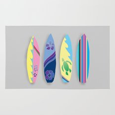 Four Surfboards Rug