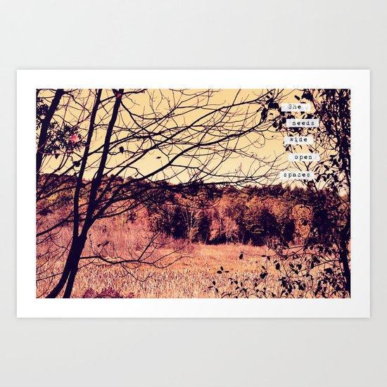 Wide Open Spaces II Art Print
