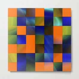 square pattern colorvariation -3- Metal Print