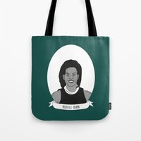 obama Tote Bags featuring Michelle Obama by Illustrated Women in History