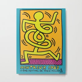 Montreux Keith Art, Exhibition Poster, Japan Vintage Print Metal Print