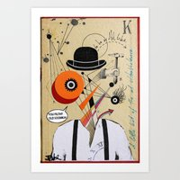 clockwork orange Art Prints featuring orange clockwork by LouiJoverArt