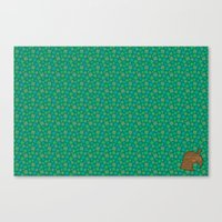 animal crossing Canvas Prints featuring Animal Crossing Summer Grass by Rebekhaart