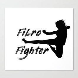 Fibro Fighter Canvas Print