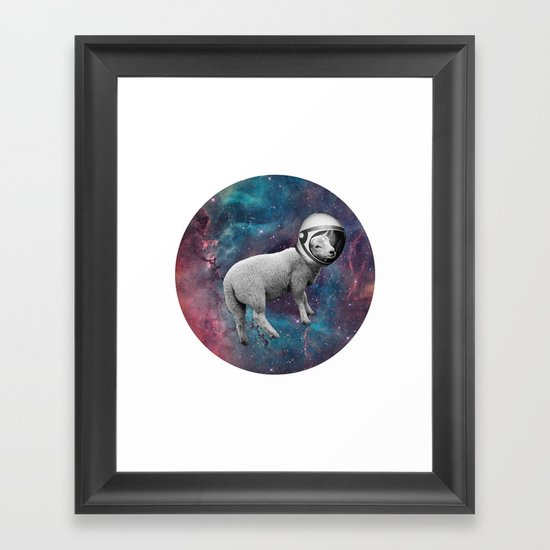 The Space Sheep 2.0 Framed Art Print