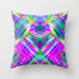 Colorful digital art splashing G469 Throw Pillow