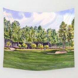 Pinehurst Golf Course No2 Hole 17 Wall Tapestry