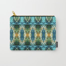 Yellow Green Blue Ice Sculptures Pattern Carry-All Pouch
