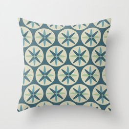 Blue Sand Dollar Throw Pillow