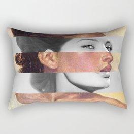 Delacroix's Orphan Girl at the Cemetery & Sophia Loren Rectangular Pillow