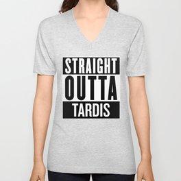 Straight Outta Tardis Unisex V-Neck