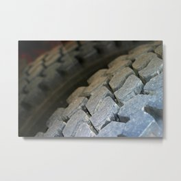 Tire Surface Metal Print