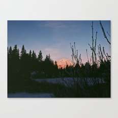Mirror Lake Sunset (Mt. Hood) Canvas Print