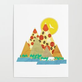 Springtime in the Pizza Mountains Poster