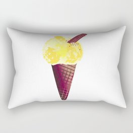 Ice Cream With Chocolate Flake Rectangular Pillow