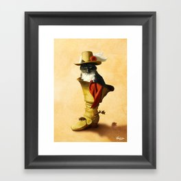 Little Puss in Boots Framed Art Print