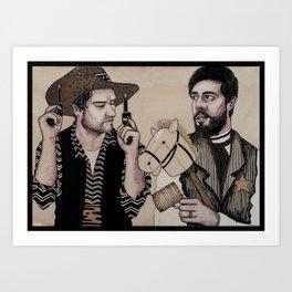 Cowboys Art Print