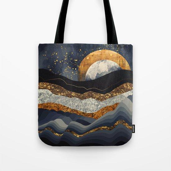 Metallic Mountains Tote Bag