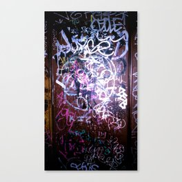 Bathroom Graffiti II Canvas Print