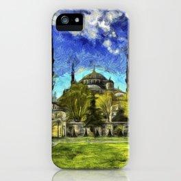 Blue Mosque Istanbul Art iPhone Case