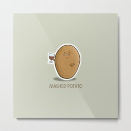 Mashed Potato Metal Print
