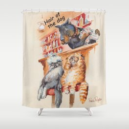 hangover cats Shower Curtain
