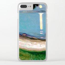 Edvard Munch - Moonlight Clear iPhone Case