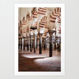 Infinite Pillars (Mosque-Cathedral of Cordoba) Art Print