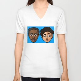 Mr. & Mrs. Chatterbox Unisex V-Neck