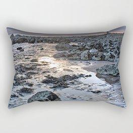 Sundown At The Lighthouse Rectangular Pillow