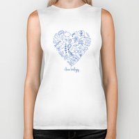 biology Biker Tanks featuring i heart biology by lucylamplight