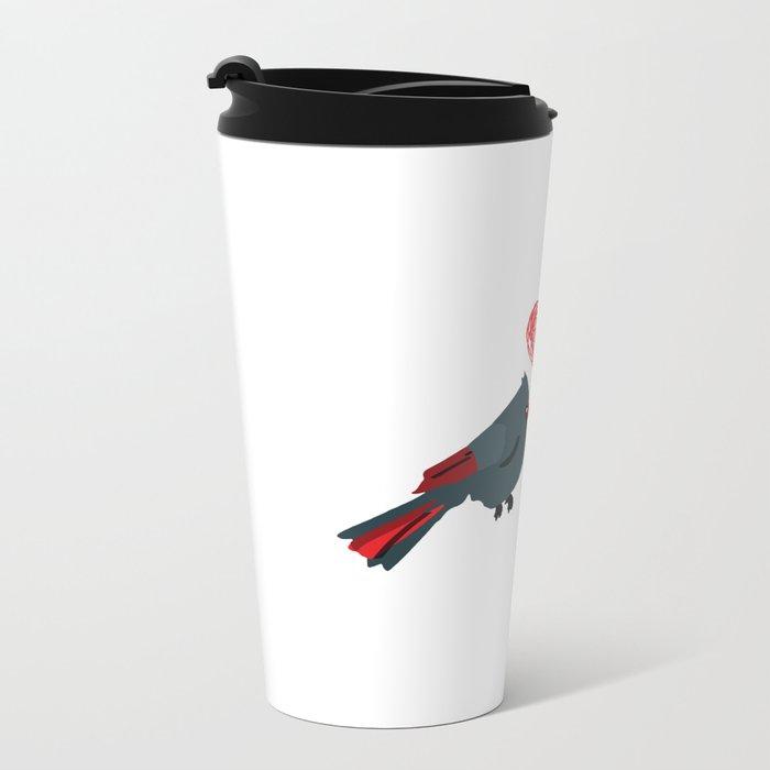 Birds In Love Metal Travel Mug