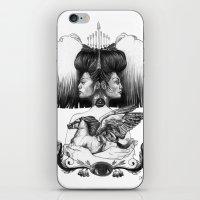 gemini iPhone & iPod Skins featuring Gemini by Deborah Panesar Illustration