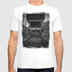 Old Railway Wagon White Mens Fitted Tee MEDIUM