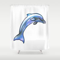 dolphin Shower Curtains featuring Dolphin by Seymour Art