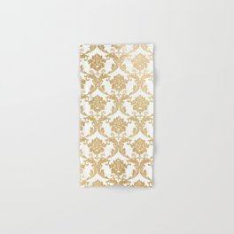 Gold swirls damask #4 Hand & Bath Towel
