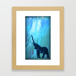 Elephant Joy Framed Art Print