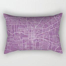 Tallahassee Map, USA - Purple Rectangular Pillow
