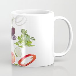 greek salad food vegetables Coffee Mug