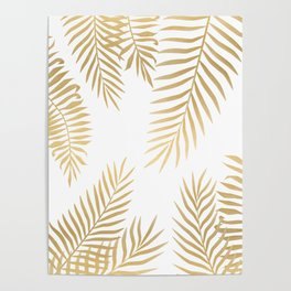 Gold palm leaves Poster